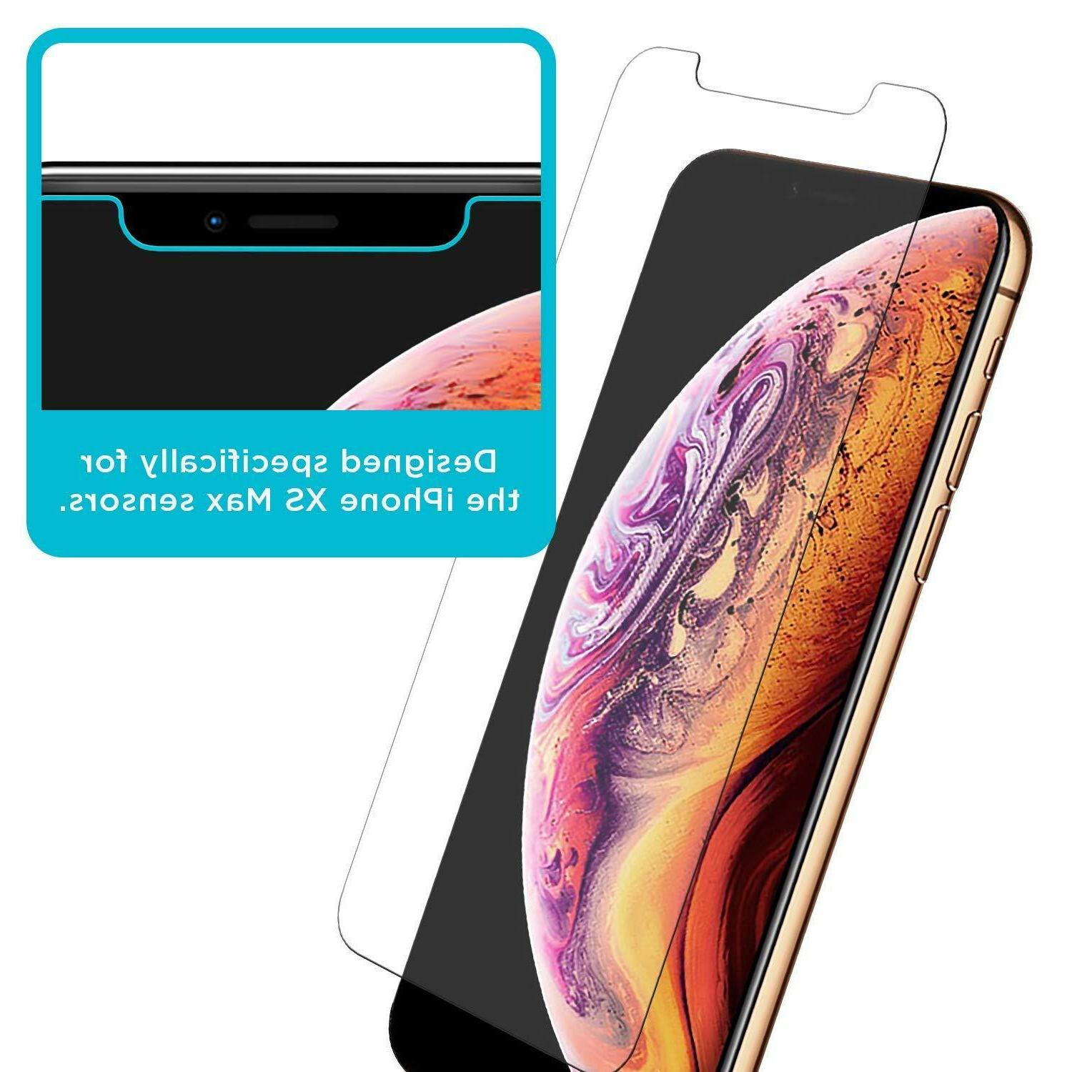 3-Pack 9H Premium iPhone XR, XS Max Tempered Screen Protecto