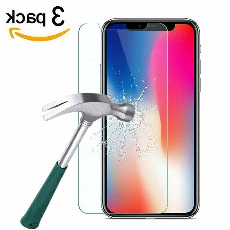 Tempered for iPhone X Max 7 3-PACK