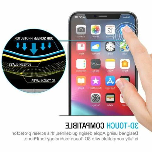 3 Packs Protector Compatible iPhone & X Clear