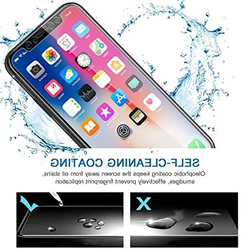 DeFitch Screen Full Compatible Xs/iPhone X to Tempered Screen Xs/iPhone X/iPhone 10