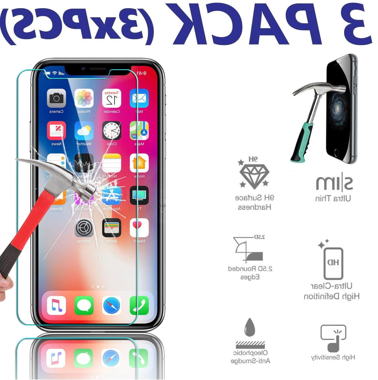 3x premium tempered glass screen protector