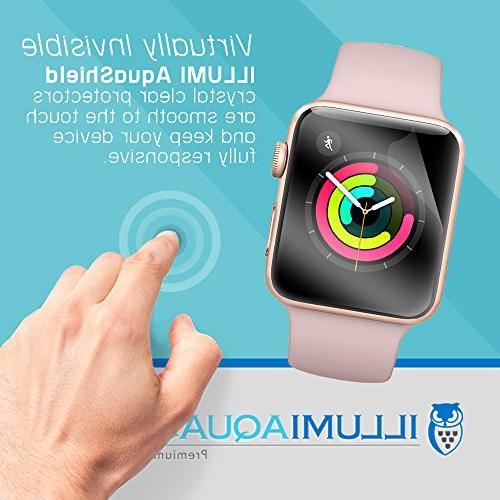Apple Watch Screen 38mm , Full Coverage Screen Protector for Watch Anti-Bubble Military-Grade UV-Resistant