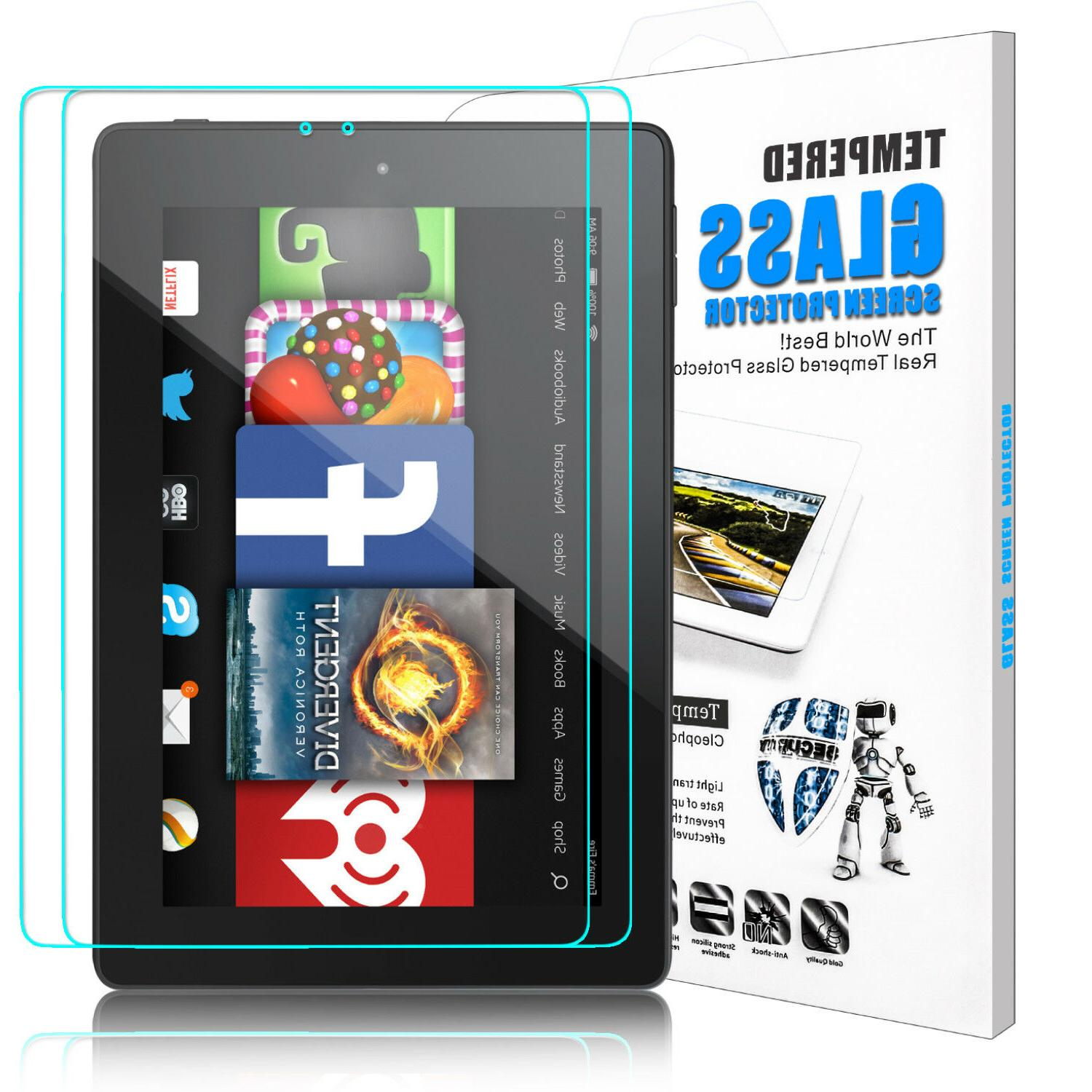 For Amazon Kindle Fire HD 7 8 2018 / 2017 Tablet Tempered Gl