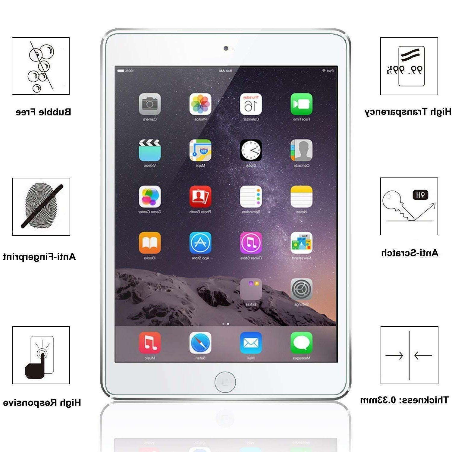 For New Generation inch 2018 Tablet Tempered Glass Protector