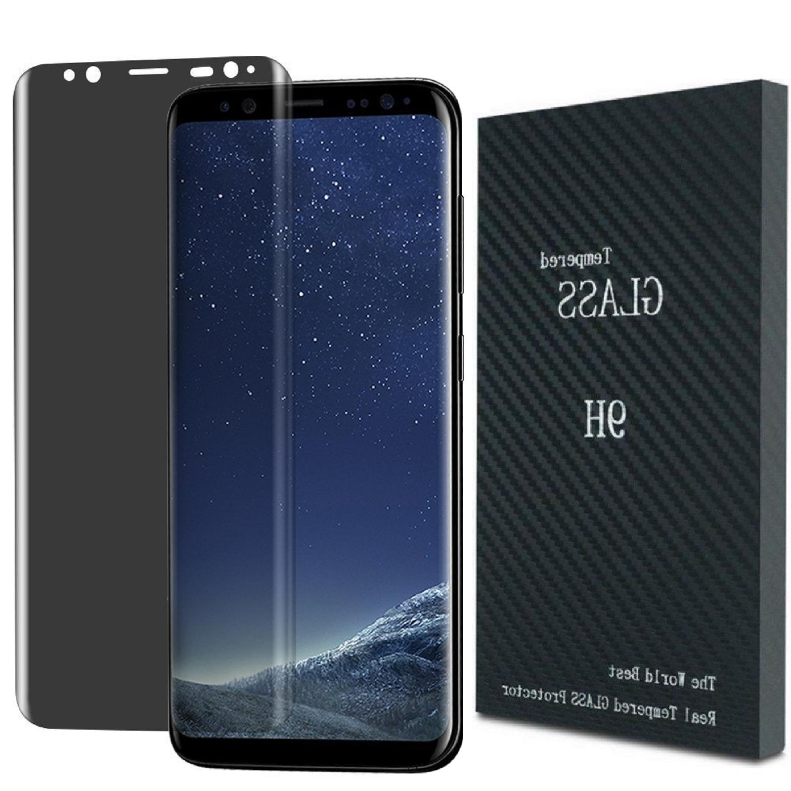 For Galaxy S8 S9 S10 Privacy Tempered Glass Protector