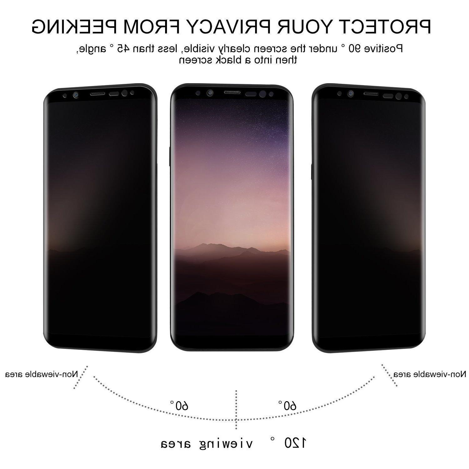 For S9 Plus Privacy Tempered