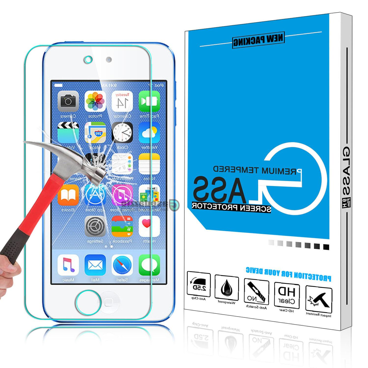 100% Real Tempered Glass Screen Protector Film for iPod Touc