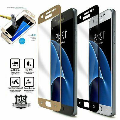Premium Full Cover Tempered Glass For Samsung Galaxy S7 Scre