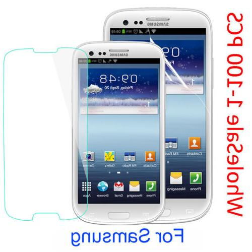 Real Tempered Glass Screen Protector PET Soft Film For Samsu