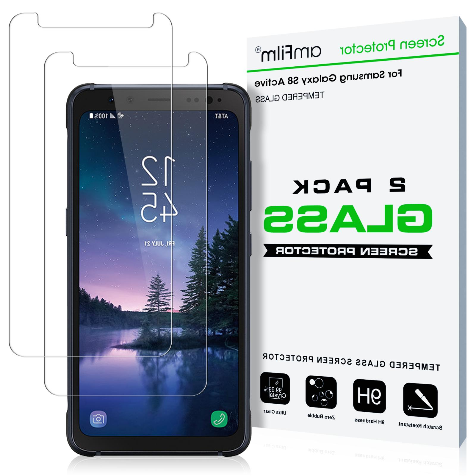 Samsung Galaxy S8 ACTIVE amFilm Premium Tempered Glass Scree