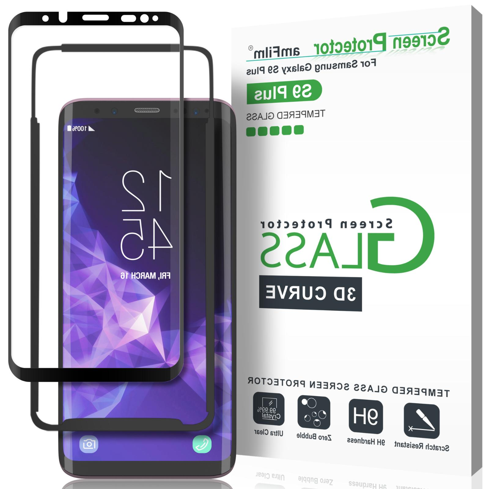 Samsung Galaxy S9 Plus amFilm 3D Curved Tempered Glass Scree