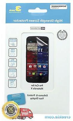 ScreenWhiz Screen Protector 3-Pack w/ Cleaning Cloth for Mot