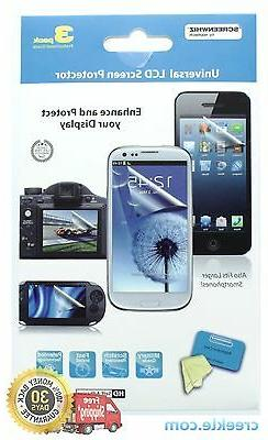 ScreenWhiz Universal Screen Protector 3-Pack for any LCD: ph