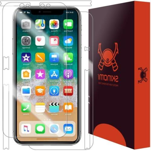 Skinomi FULL BODY Clear Skin+Screen Protector For Apple iPho