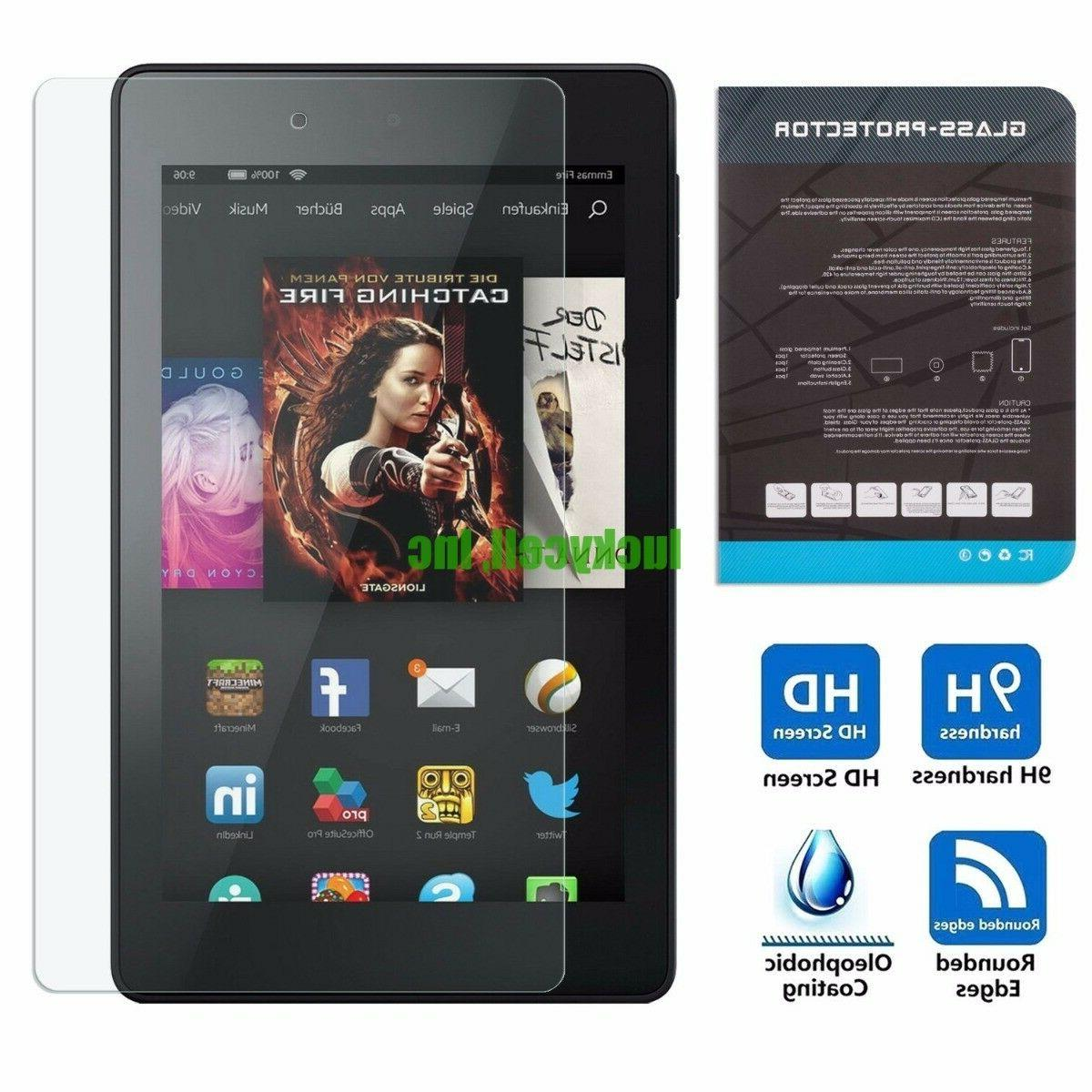 Tempered Glass Screen Protector for Amazon Kindle Fire HD 7