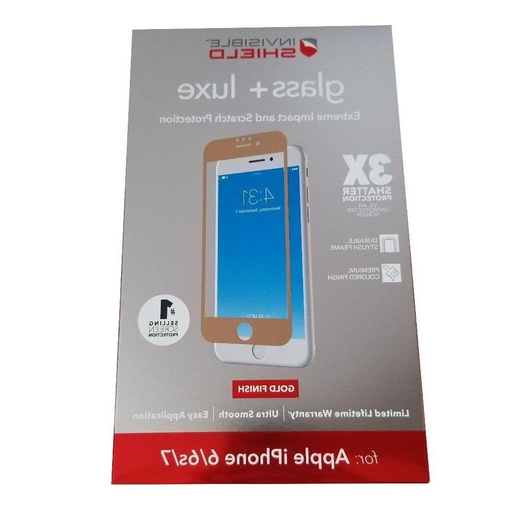 ZAGG InvisibleShield Glass + Luxe Gold Screen Protector for