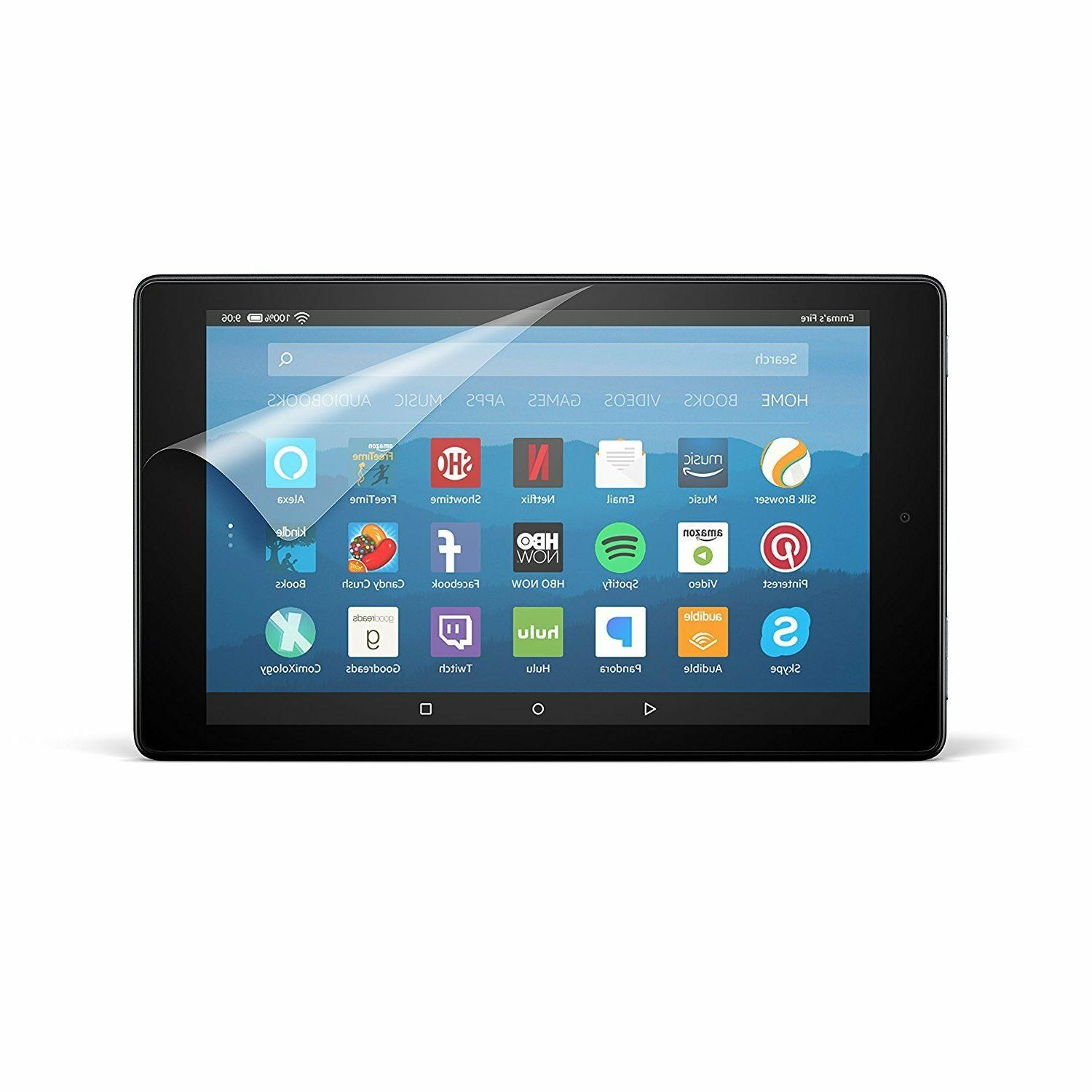 nupro clear screen protector for fire hd