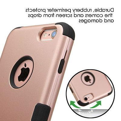 For iPhone 6 6s Hard TUFF Hybrid Shockproof Case