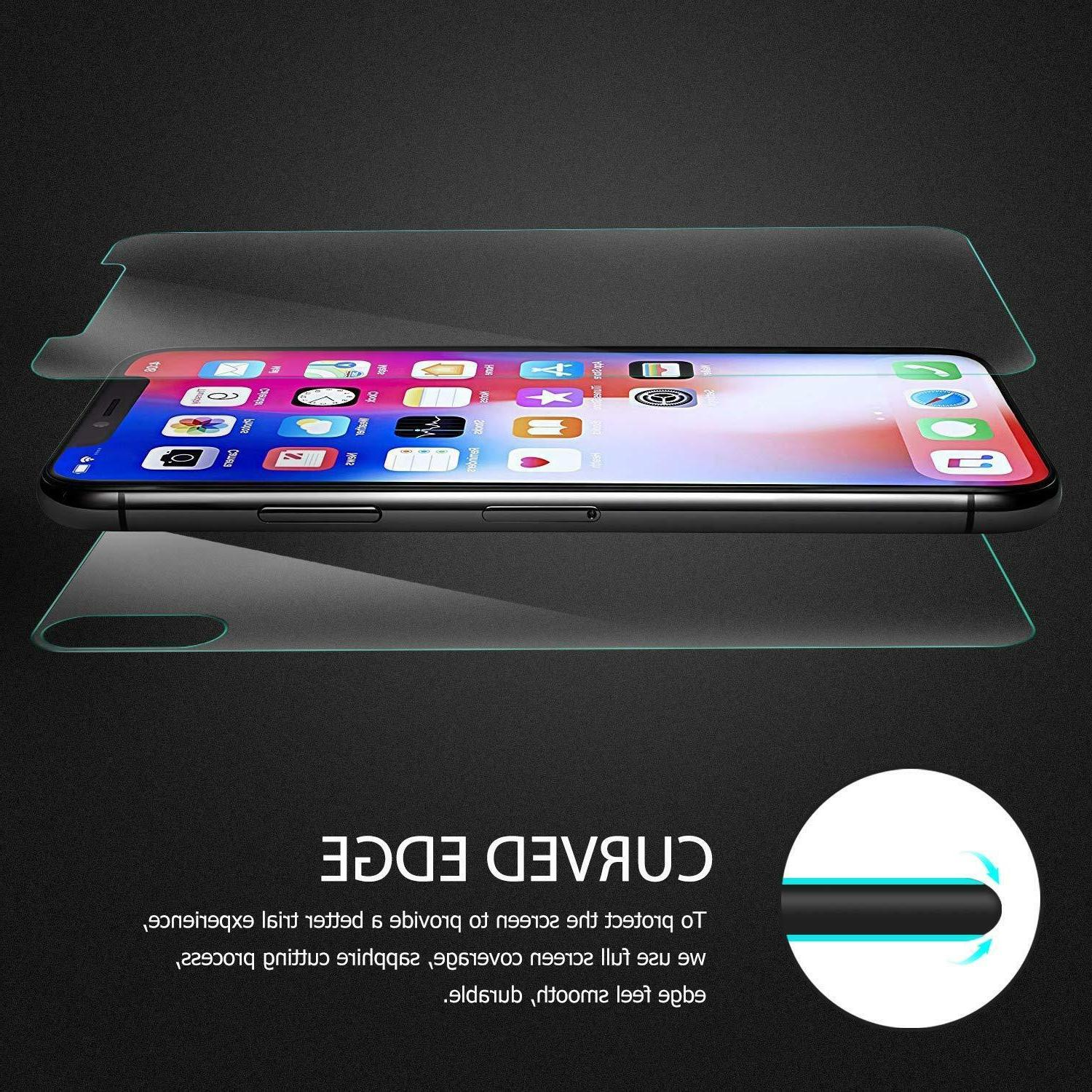 For Apple iPhone Max Front and 9H Glass Protector