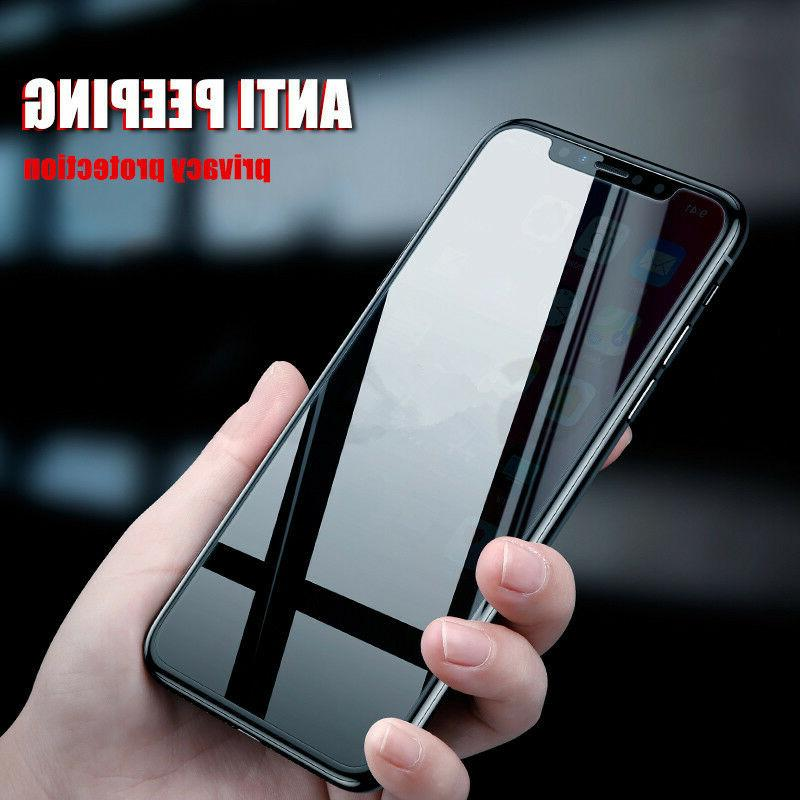 For Apple iPhone X 10 Anti Privacy Tempered Protector Guard