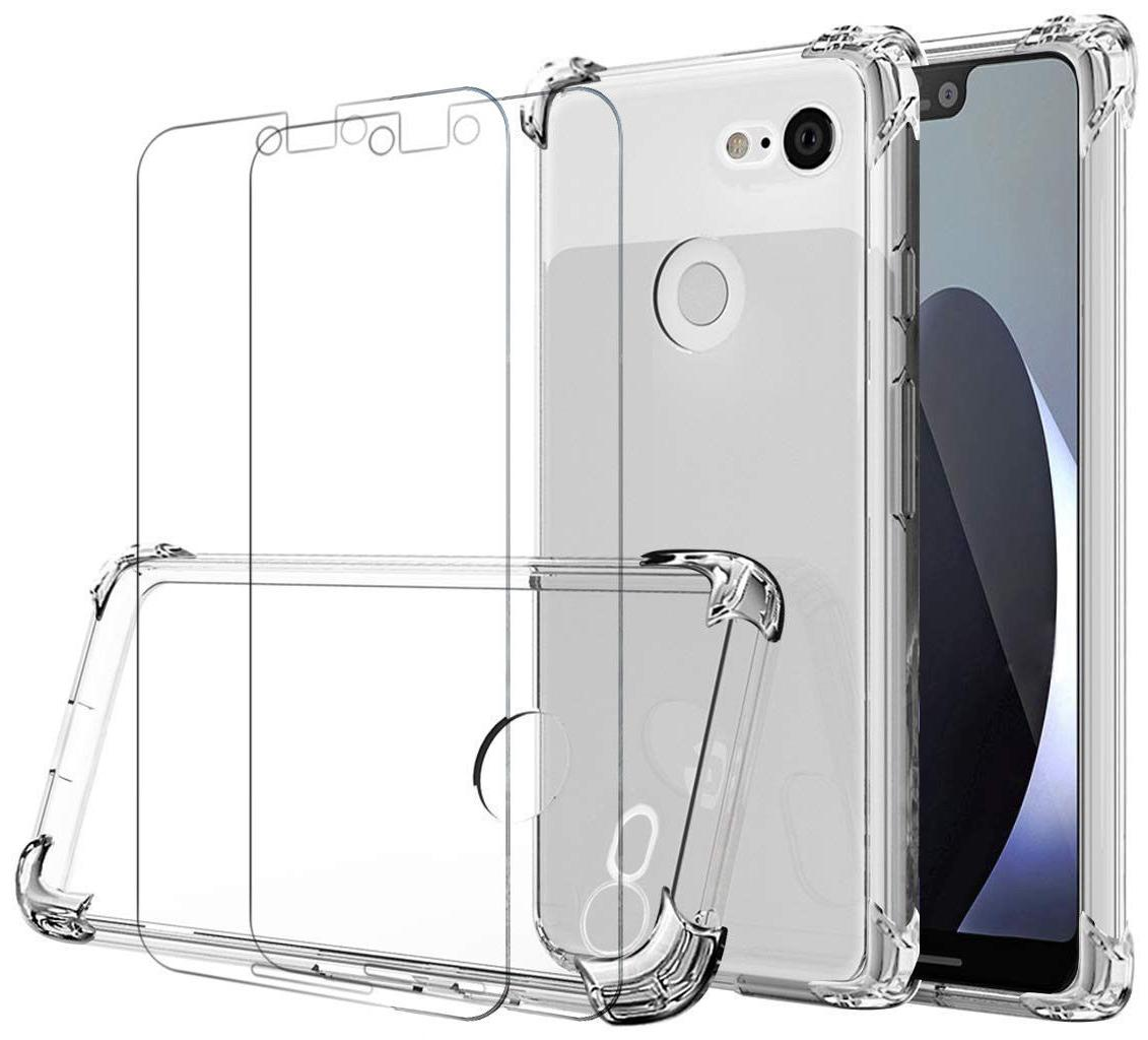 Case 2 Screen Protector iPhone Max Case 7 Plus XS Cover Clear