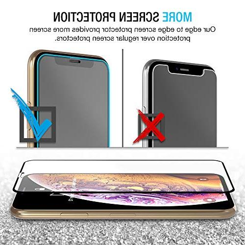 """Maxboost Edge-to-Edge Screen for and Framed Tempered Screen Protector Compatible Xs/X 5.8""""2018 2017"""