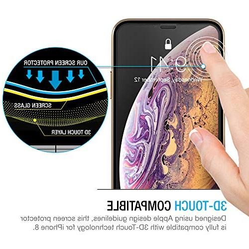 """Maxboost Edge-to-Edge Screen Protector for iPhone and Framed Tempered Glass Protector Compatible with iPhone Xs/X 5.8""""2018"""
