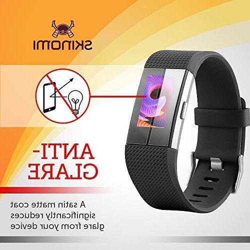 Fitbit 2 Protector Skinomi Full for Fitbit Charge 2 Anti-Glare and Shield