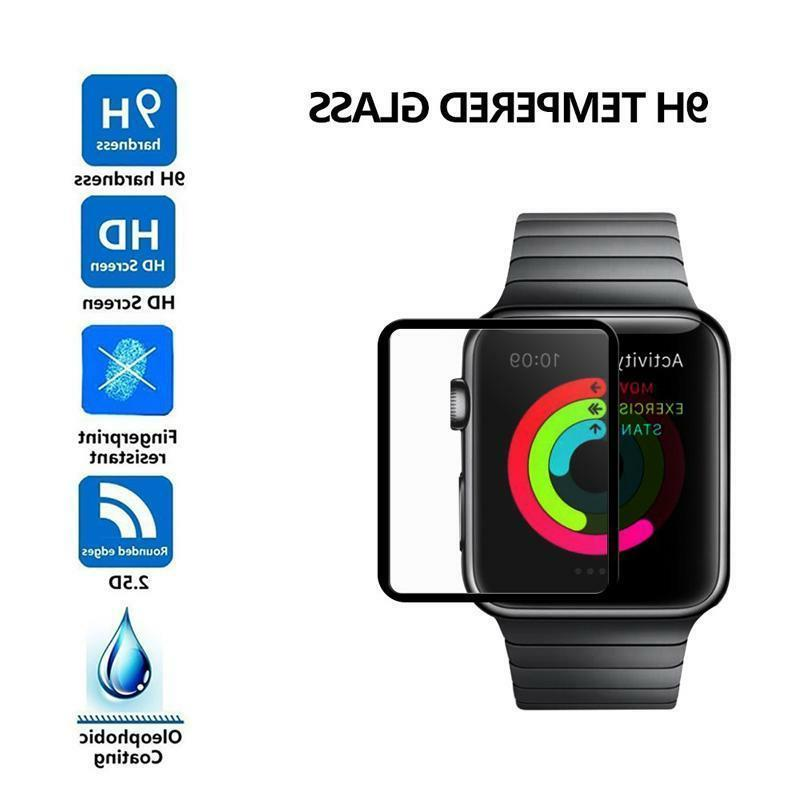 Full Touch Screen Apple Watch Series 1,2 & 3 Tempered Glass