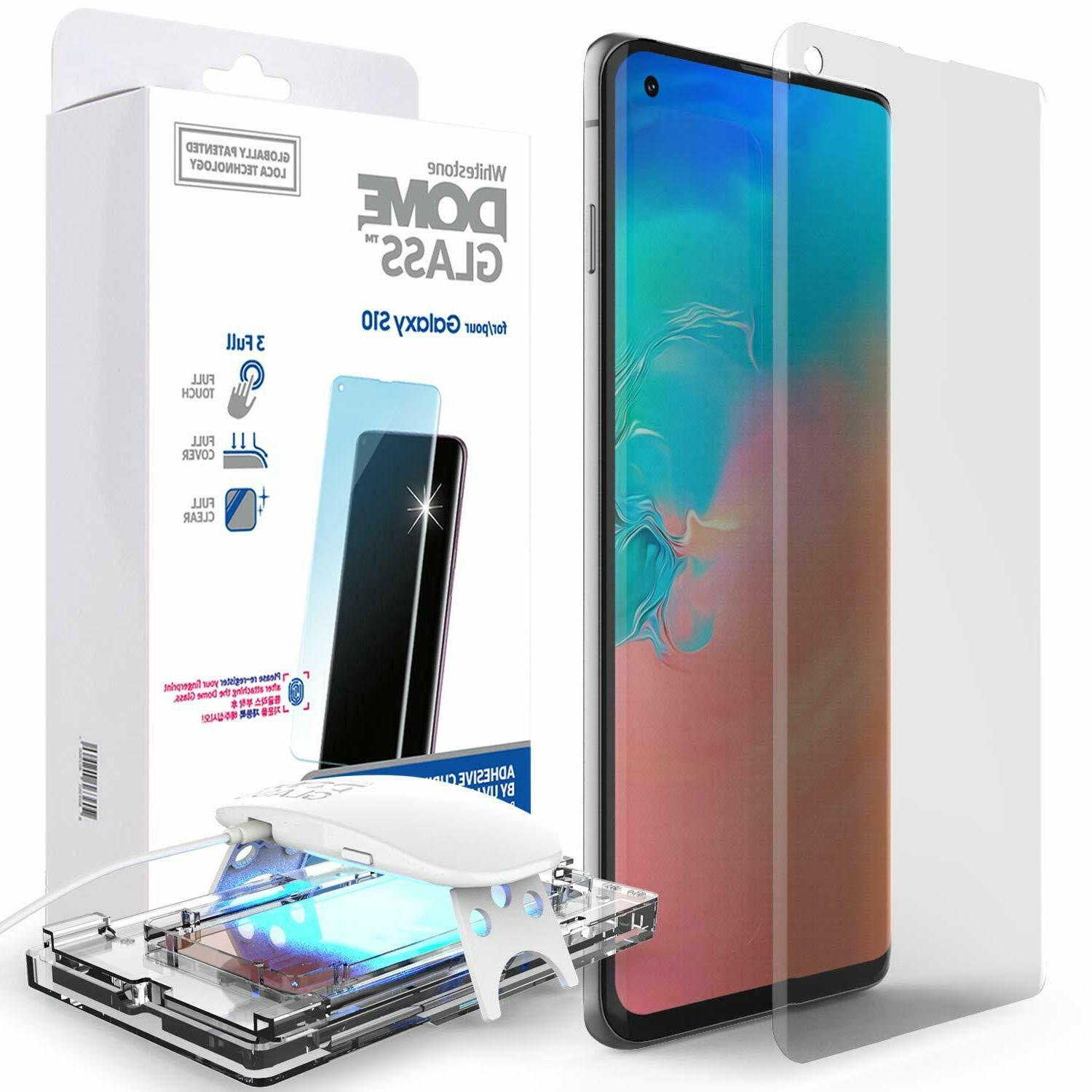 Whitestone Dome Glass For Galaxy S10 Tempered Screen Protect