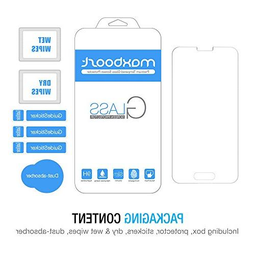 Galaxy S5 Protector, Maxboost Protector Samsung Galaxy Glass Fit Touch Accurate - Clear