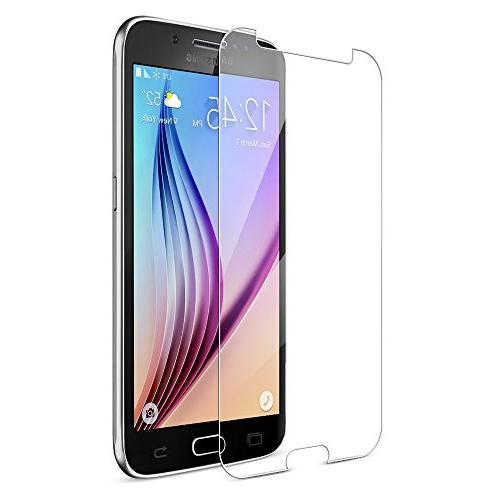 Maxboost Galaxy S6 Protector, Screen Samsung Galaxy S6-0.2mm Glass Screen Protection Fit 99% -