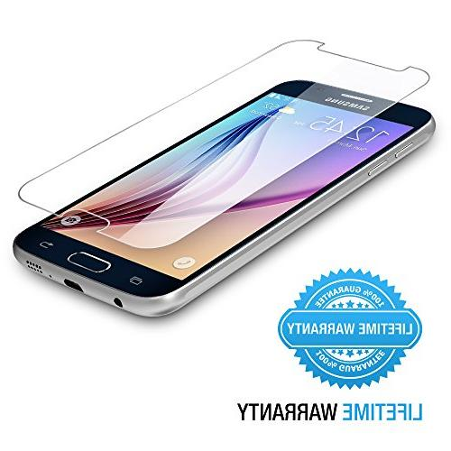 Maxboost Galaxy S6 Screen Protector, Protector Samsung Galaxy Ballistic Glass Screen Fit Touch Accurate -