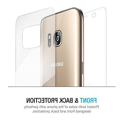 Galaxy Protector, Maxboost Samsung Galaxy Set Full Front+Back Film and Compatible Front