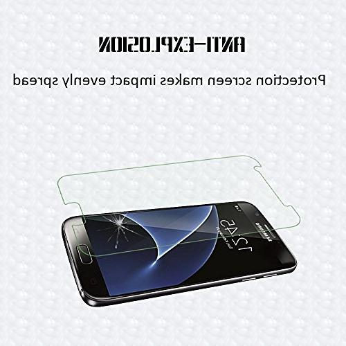 Galaxy S7 Tempered Glass Hardness,Bubble Screen Protector Compatible with Samsung S7