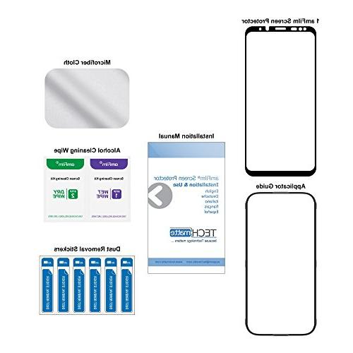 Galaxy Protector amFilm 3D Curved Full Screen Samsung Galaxy Plus Glass Protector Application Tray