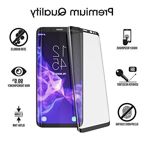Galaxy S9 Plus Screen Protector Curved Dot Matrix Screen Galaxy S9 Plus Tempered Glass Protector 2018 with Application