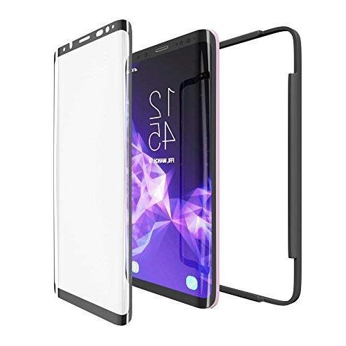 Galaxy Glass, amFilm 3D Dot Full Samsung Galaxy S9 Tempered Glass Screen Protector with