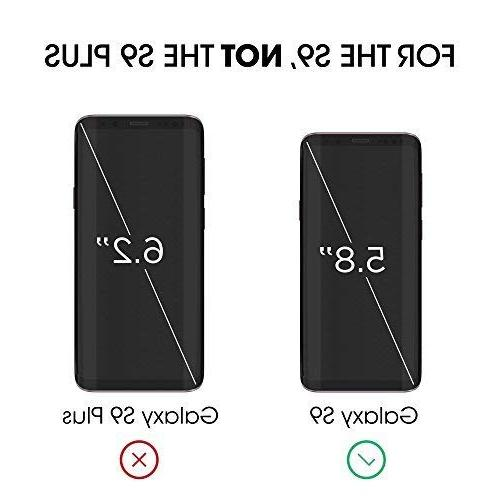 Galaxy S9 Glass, amFilm Curved Dot Full with Easy