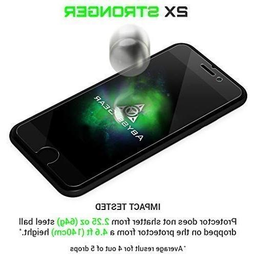 Abyss Gear Glass Screen Protector for iPhone 7 Strength Tempered Resistant