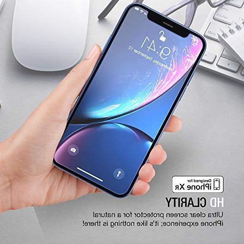 XDesign Glass Protector Designed Apple XR 2018 Tempered with Touch Impact Absorb Installation Tray for XR