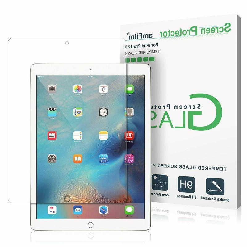 Amfilm Glass Screen Protector For Ipad Pro 12.9 , Tempered G