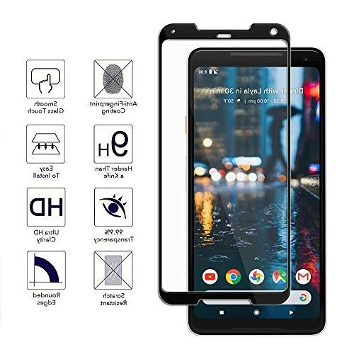 Google Screen Protector 9H 3D Tempered Glass Ultra-Clarity Responsive Bubble-Free Google Pixel 2