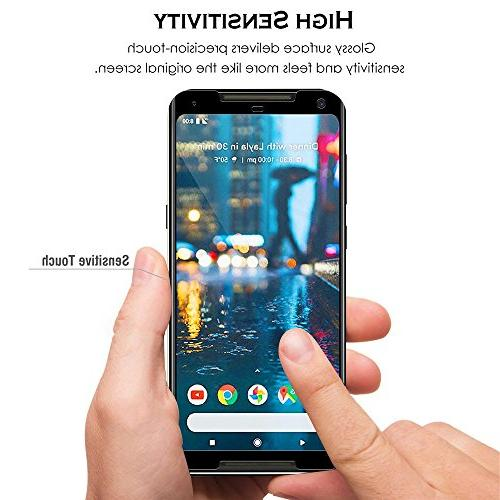 Google Pixel 2 Screen 9H Hardness Tempered Ultra-Clarity Highly Responsive Bubble-Free Scratch-Proof for Google 2