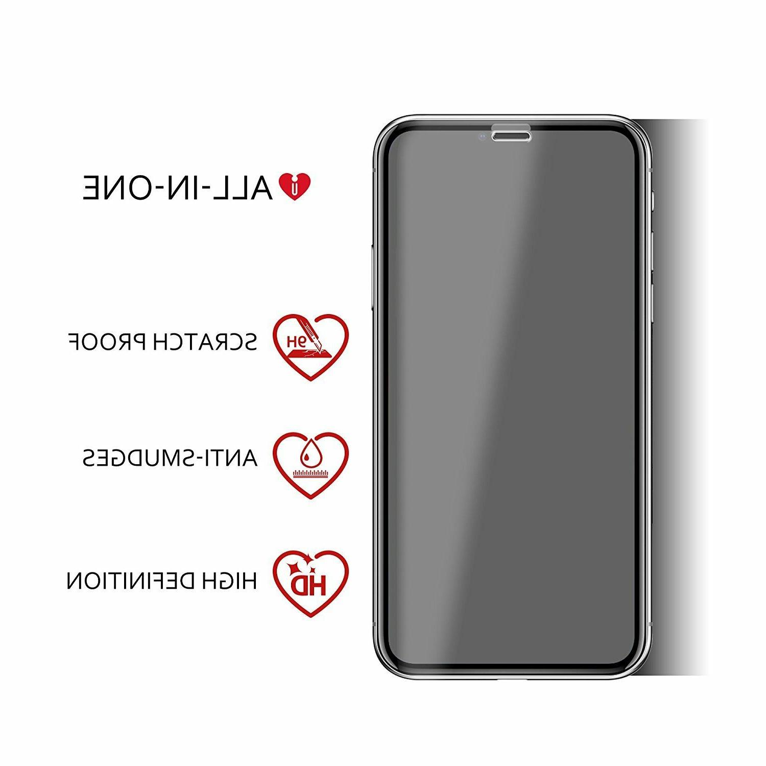 iCarez X & Xs Tempered Glass Screen Protector friendly