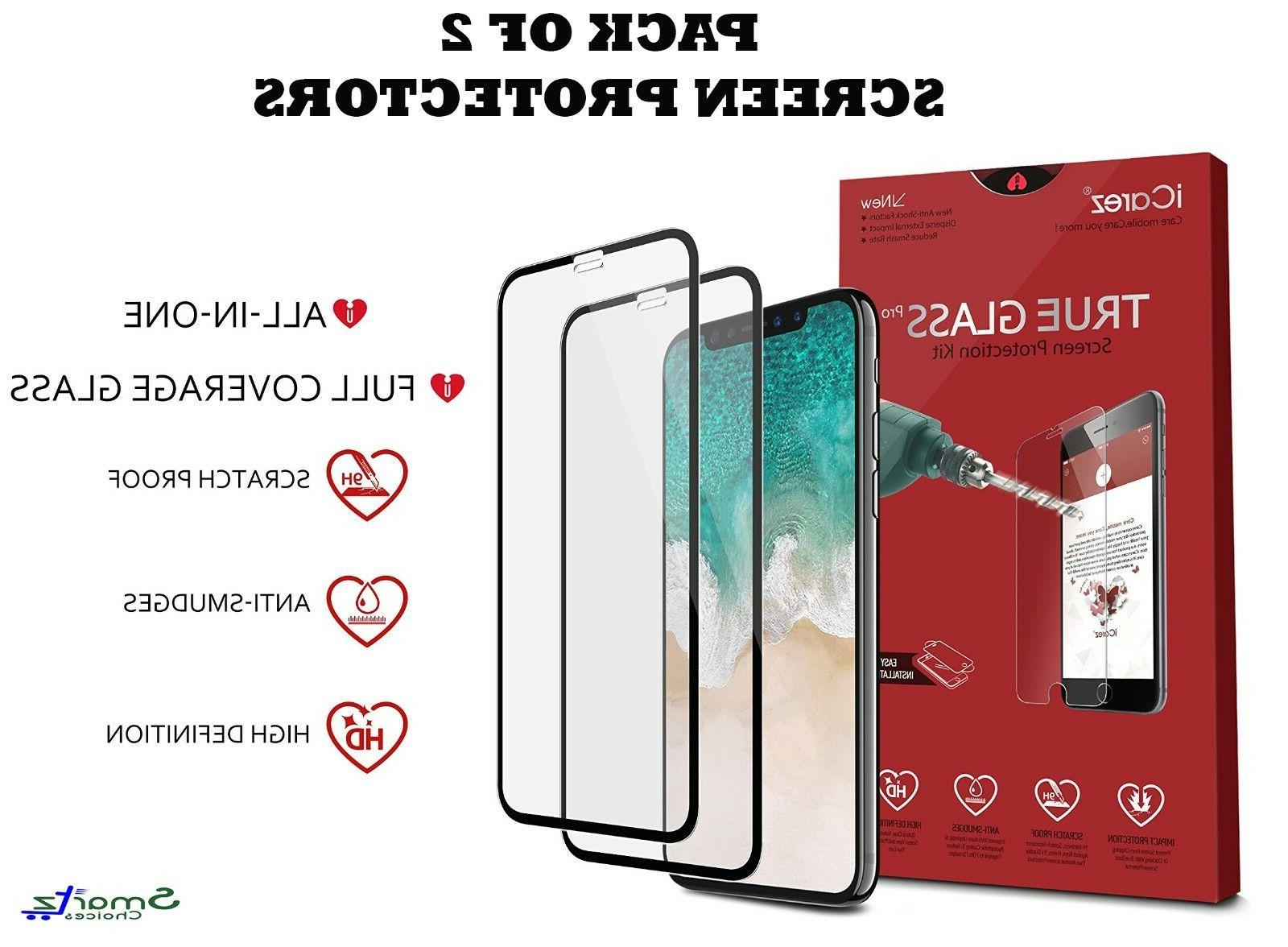 iCarez iPhone X & Xs Full Coverage Tempered Glass Screen Pro