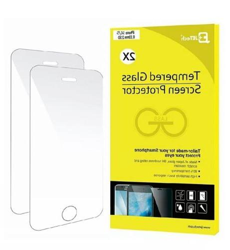 iPhone SE Screen Protector, JETech 2-Pack  Premium Tempered