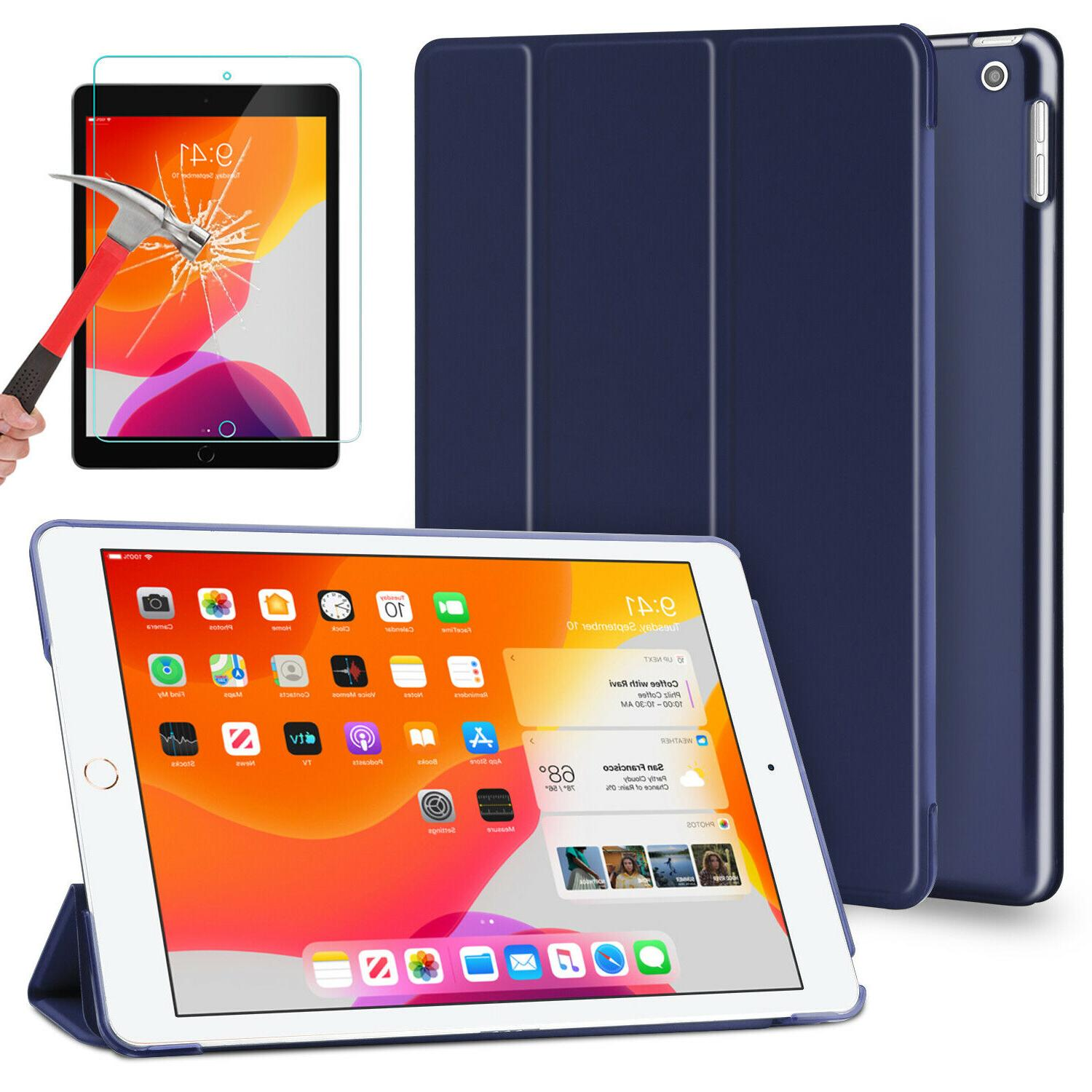 For iPad Generation 10.2 Case Cover/Tempered Glass Protector