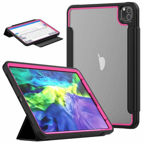 """For Pro 12.9"""" 11"""" 2020 Leather Screen Protector Case Cover"""