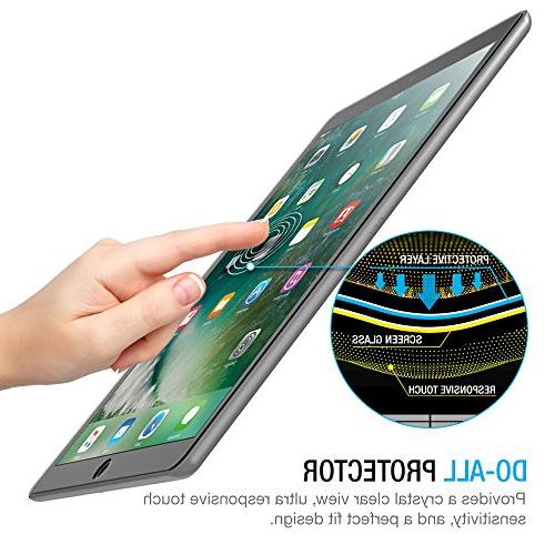 iPad Pro 12.9 Screen Protector Tempered Screen Protector for 12.9-inch 2017 Apple Pencil 0.3mm 2.5D Anti-Scratch